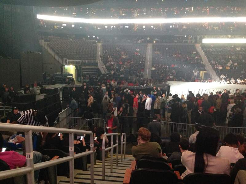 Seating view for Philips Arena Section 116 Row K Seat 18