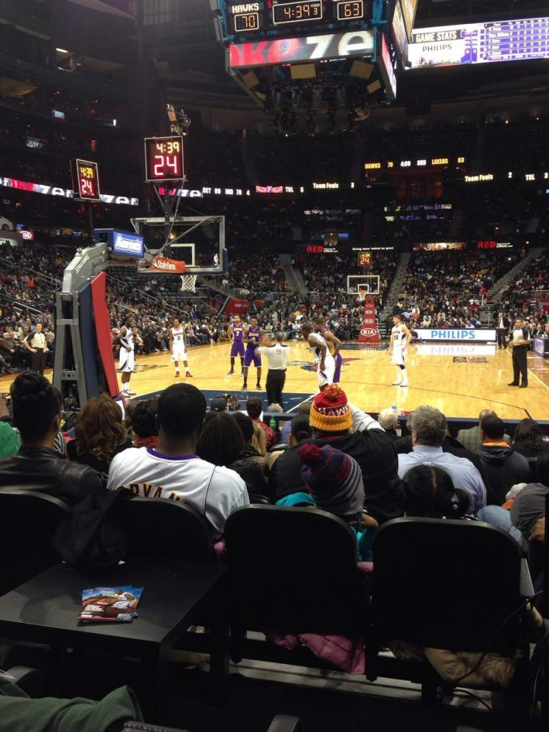 Seating view for Philips Arena Section 120 Row hh Seat 3