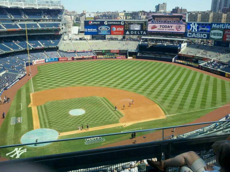 Seating view for Yankee Stadium Section 418 Row 3 Seat 5