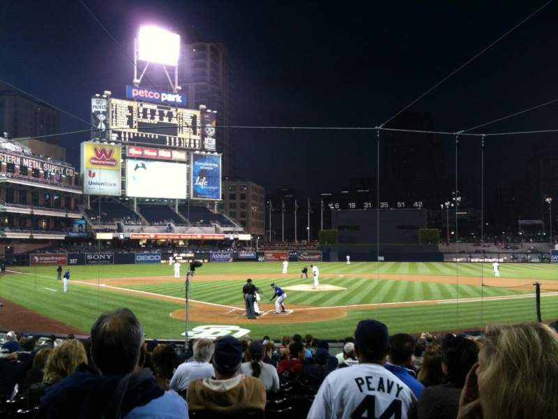 Seating view for Petco Park Section 101 Row 20 Seat 13