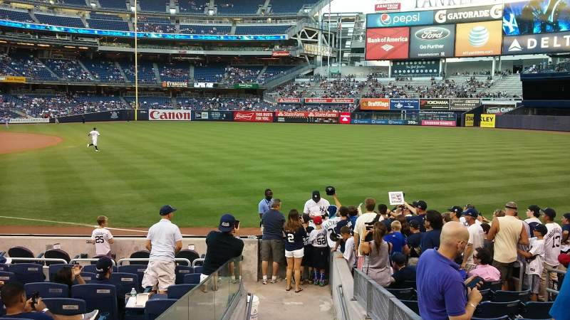Seating view for Yankee Stadium Section 111 Row 13 Seat 6