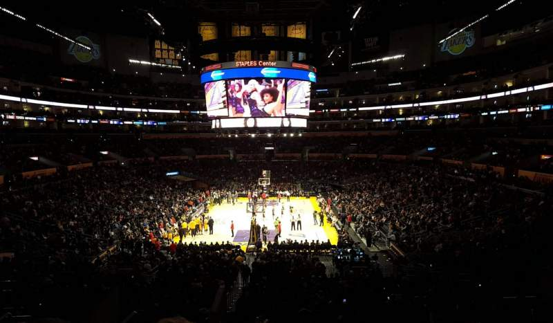 Seating view for Staples Center Section 216 Row 12 Seat 20-21