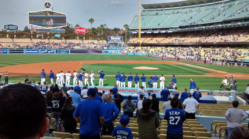 Seating view for Dodger Stadium Section 19FD Row P Seat 3-4