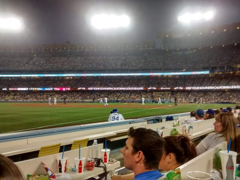 Seating view for Dodger Stadium Section Baseline 41 Row 4 Seat 3-4