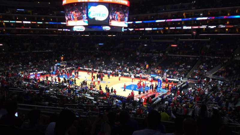 Seating view for Staples Center Section PR2 Row 12