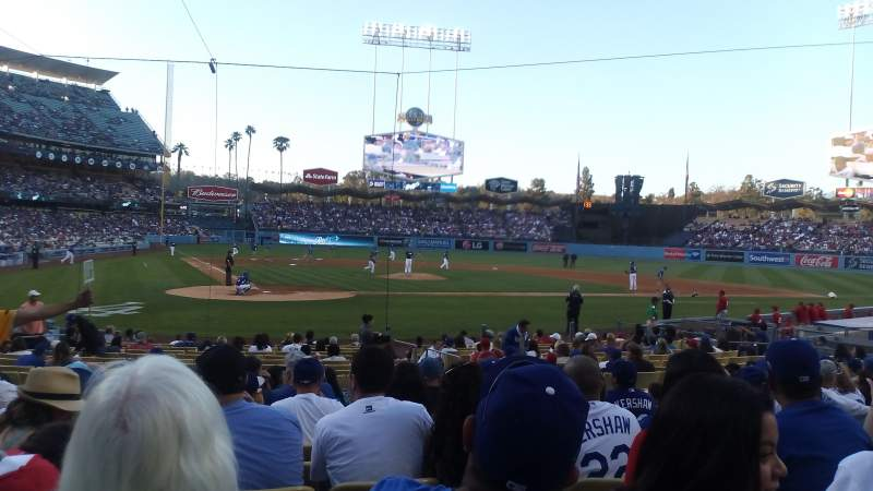 Seating view for Dodger Stadium Section Field MVP 8 Row L