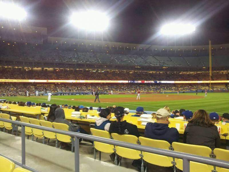 Seating view for Dodger Stadium Section 36FD Row B