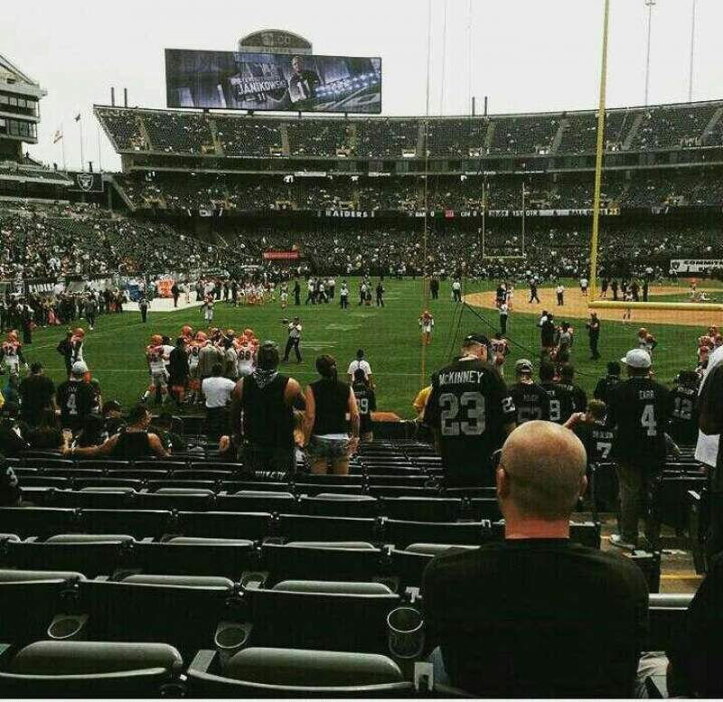 Seating view for Oakland Alameda Coliseum Section 129 Row 19