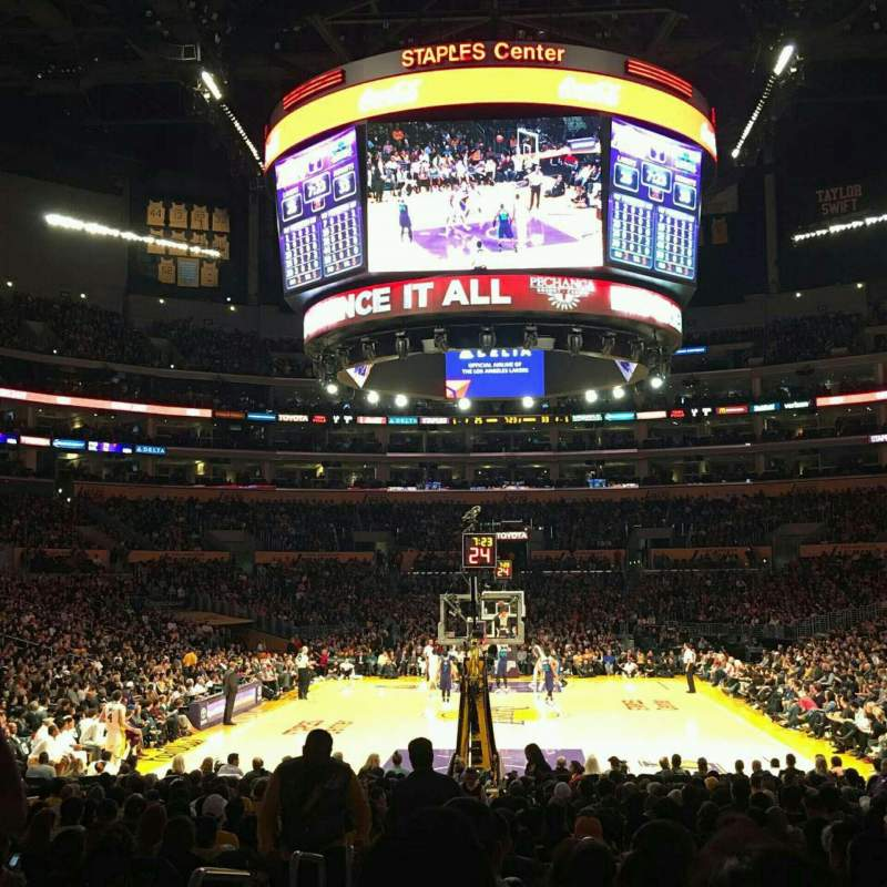 Seating view for Staples Center Section 115 Row 13 Seat 25