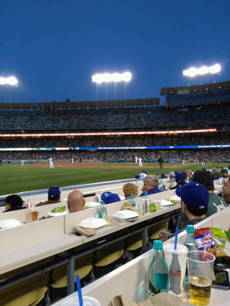 Seating view for Dodger Stadium Section baseline 43 Row 6 Seat 7