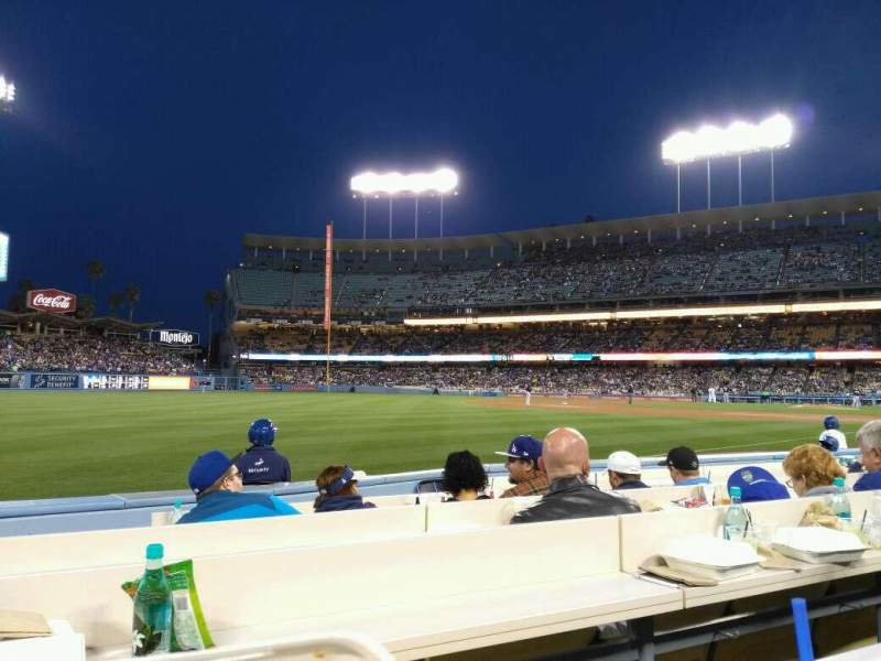 Seating view for Dodger Stadium Section Baseline 43 Row 6