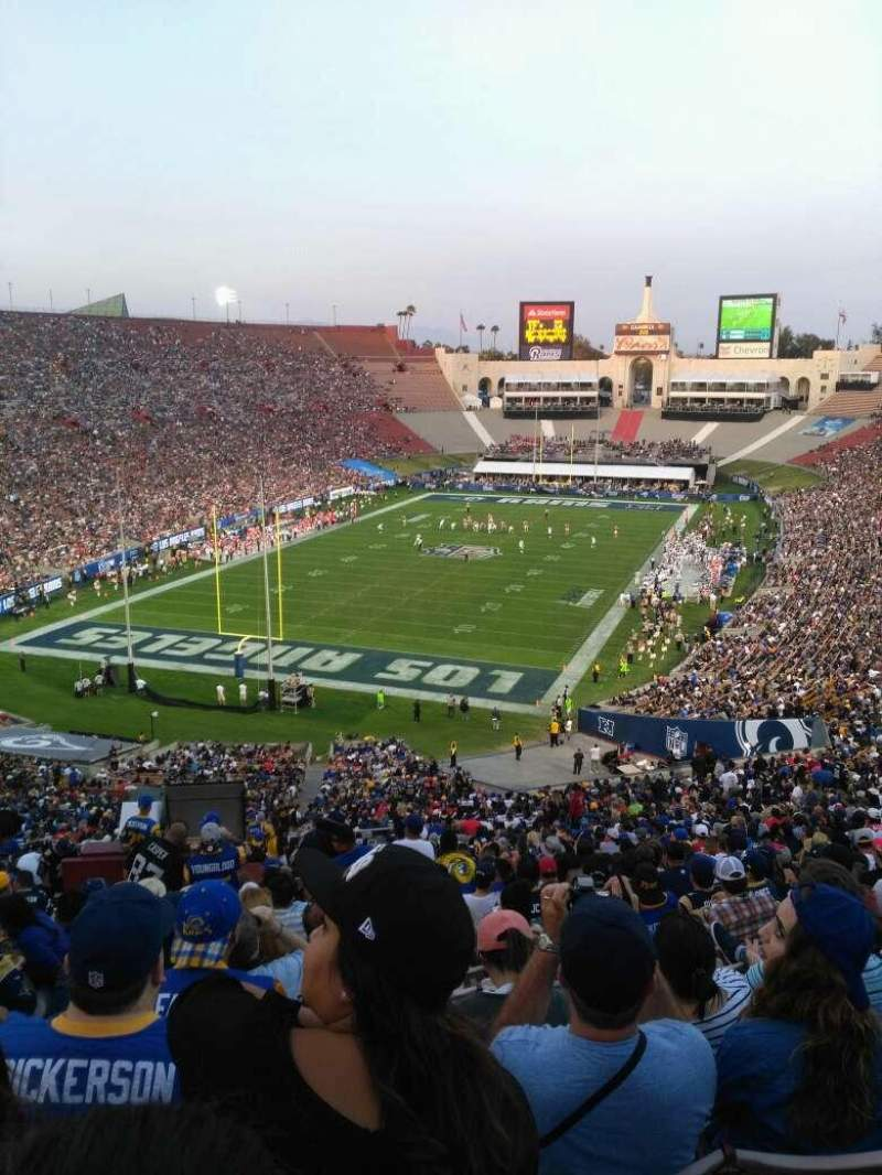 Seating view for Los Angeles Memorial Coliseum Section 13H Row 73 Seat 101