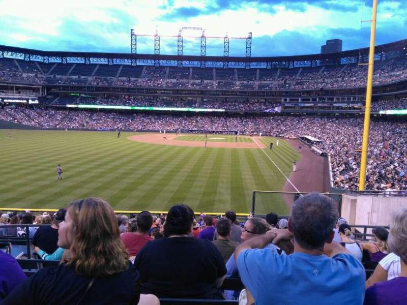 Seating view for Coors Field Section 151 Row 22 Seat 8