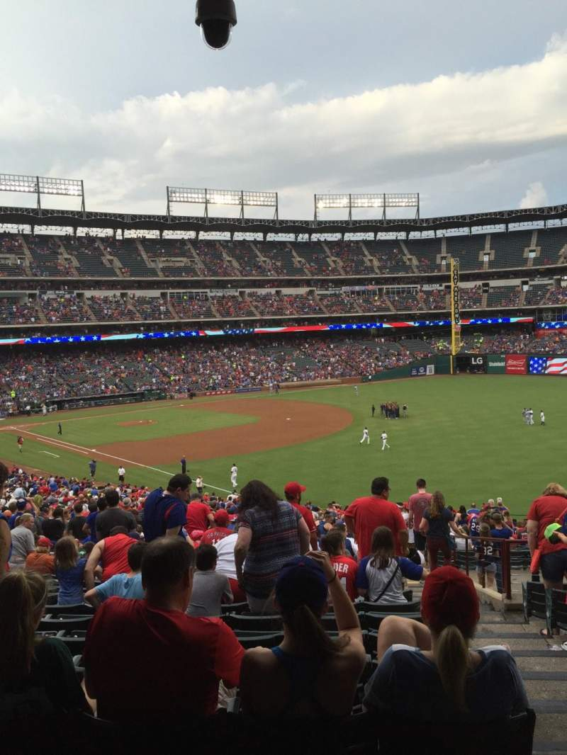 Seating view for Globe Life Park in Arlington Section 39 Row 47 Seat 24