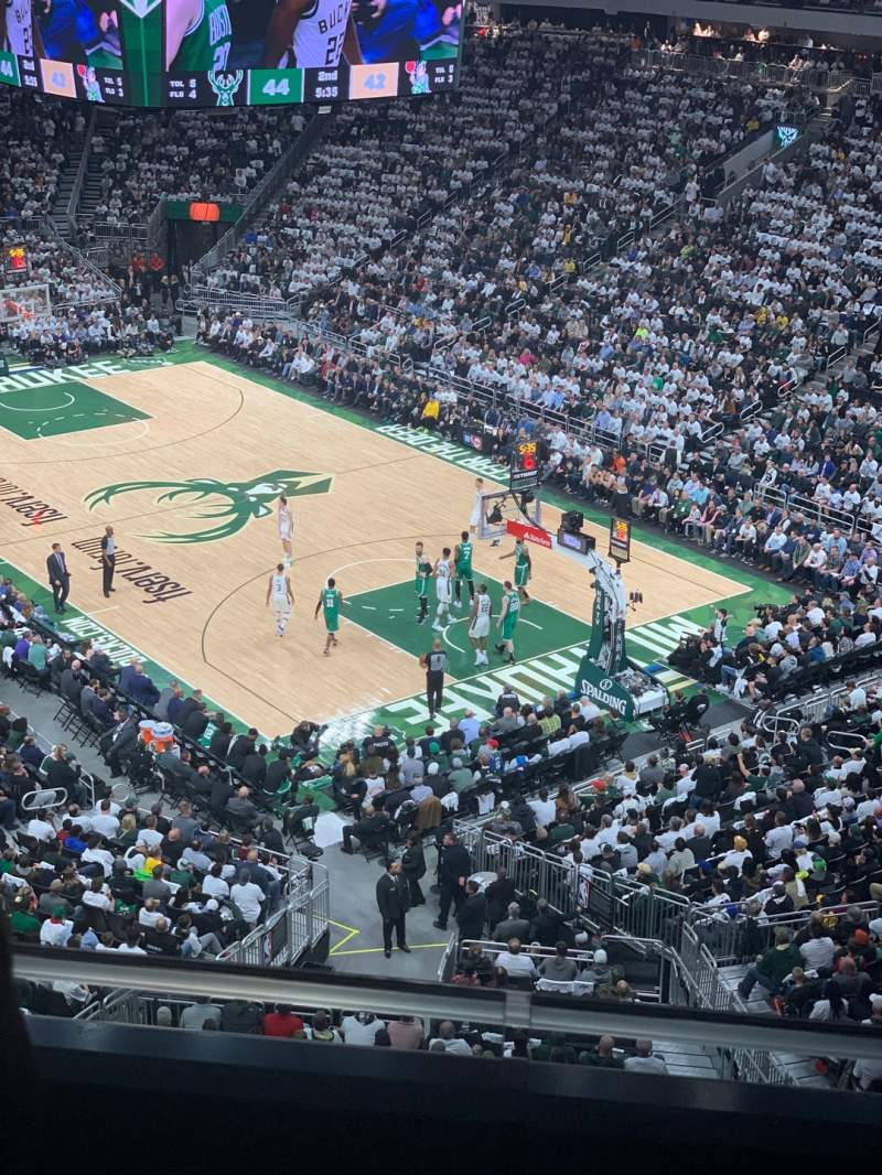 Seating view for Fiserv Forum Section 218 Row 2 Seat 5
