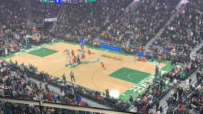 Seating view for Fiserv Forum Section 205 Row 2 Seat 1