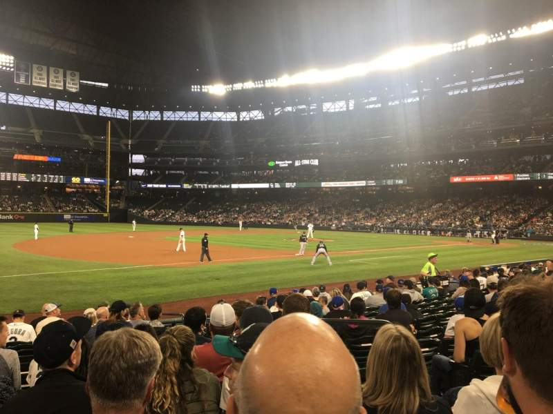 Seating view for T-Mobile Park Section 142 Row 13 Seat 5