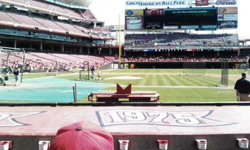 Seating view for Great American Ball Park Section 129 Row K