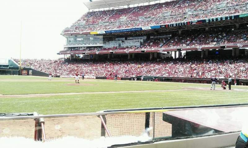 Seating view for Great American Ball Park Section 115 Row G Seat 2