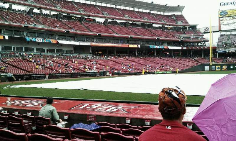 Seating view for Great American Ball Park Section 130 Row L Seat 9