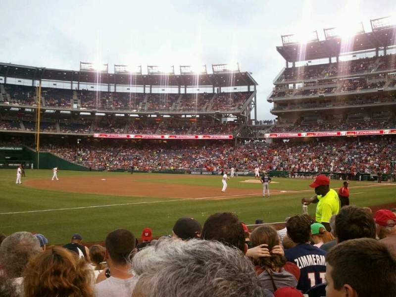 Seating view for Nationals Park Section 112 Row K Seat 9