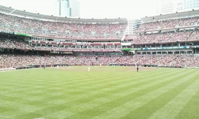 Great American Ball Park, section: 115, row: E, seat: 20