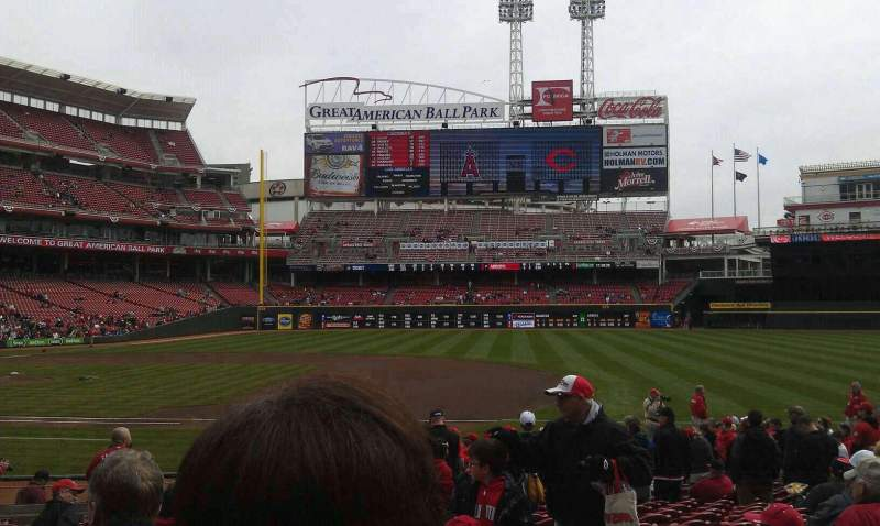 Seating view for Great American Ball Park Section 131 Row T Seat 2