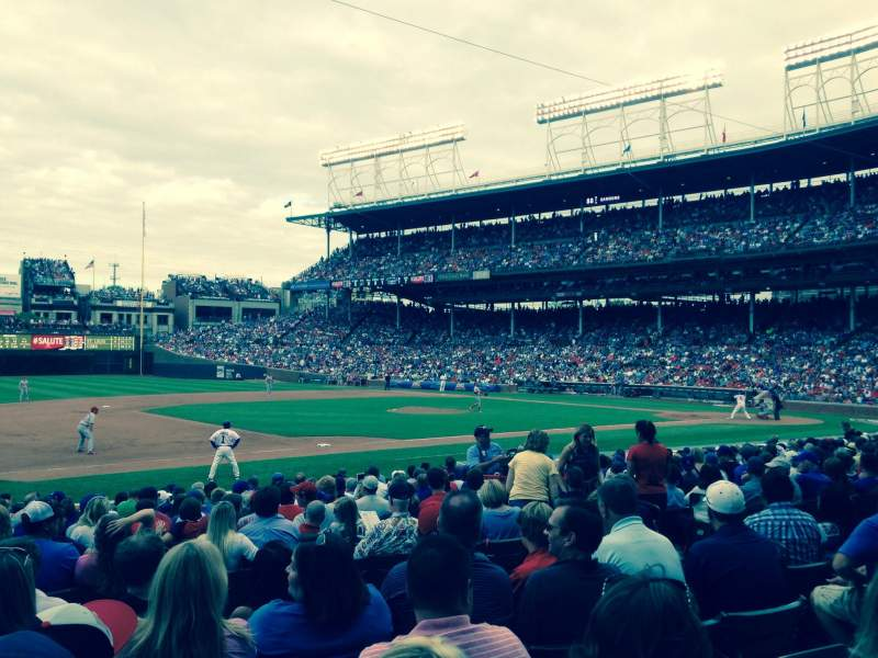 Seating view for Wrigley Field Section 108 Row 7 Seat 107