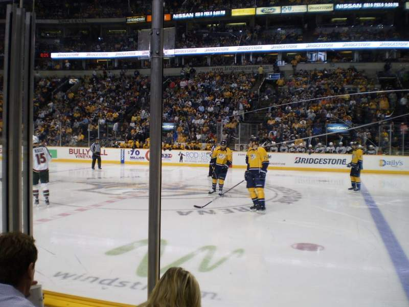 Seating view for Bridgestone Arena Section 106 Row CC Seat 9
