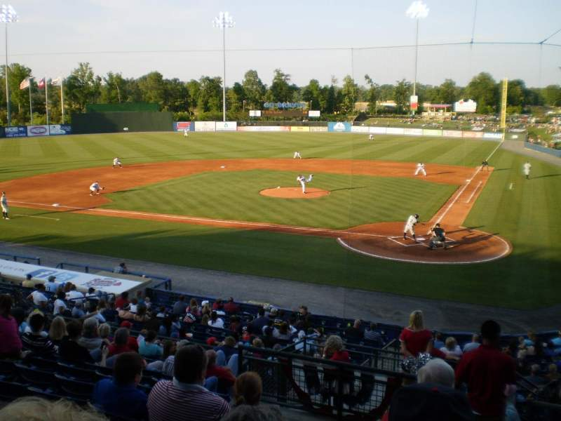 Seating view for State Mutual Stadium Section 206 Row 12 Seat 1