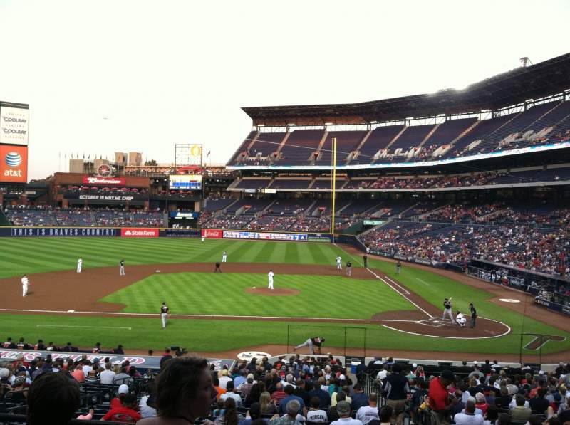 Seating view for Turner Field Section 208L Row 1 Seat 101