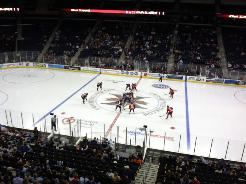 Infinite Energy Arena, section: 219, row: A, seat: 15