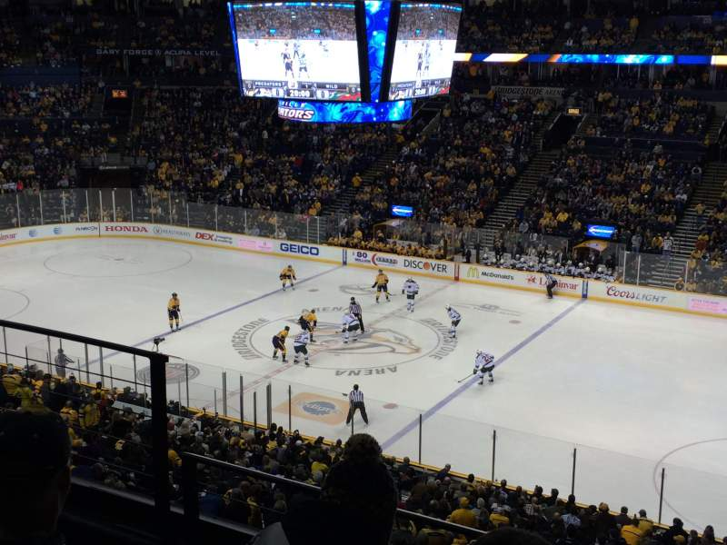 Seating view for Bridgestone Arena Section 212 Row F Seat 14