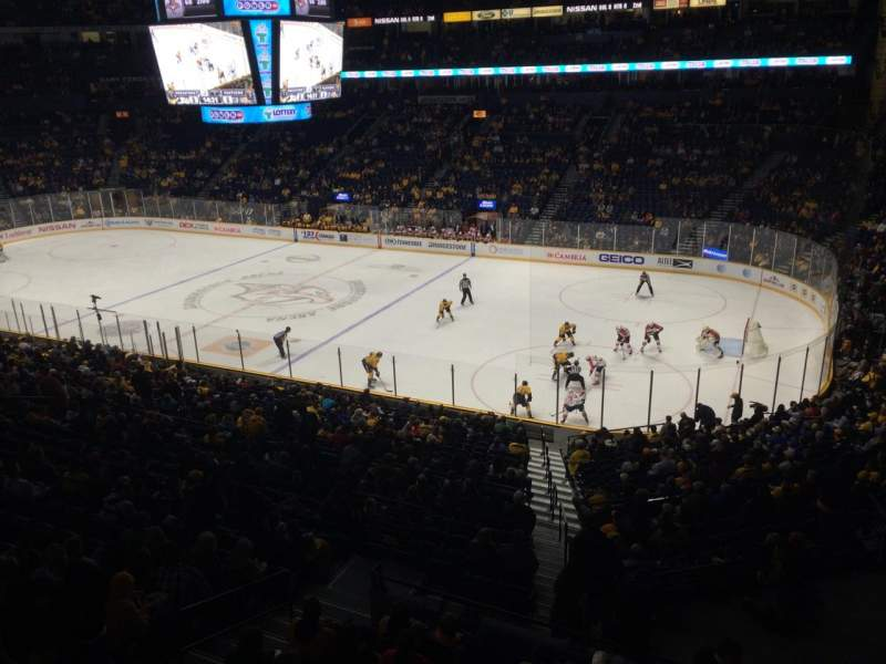 Seating view for Bridgestone Arena Section 212 Row D Seat 2