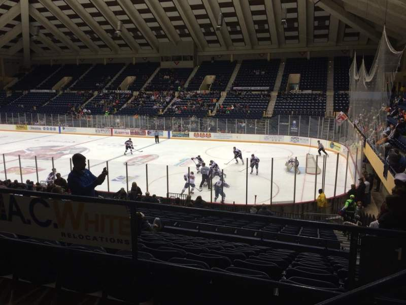 Seating view for Macon Coliseum Section 219 Row H Seat 2