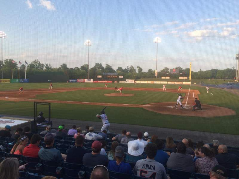 Seating view for State Mutual Stadium Section 206 Row 1 Seat 1