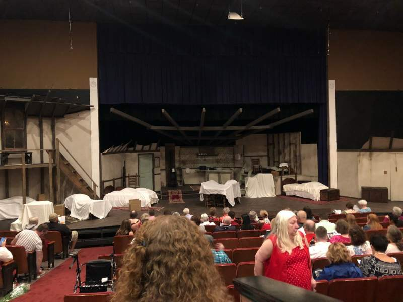 Seating view for DeSoto Theater Section Loge Left Row J Seat  117
