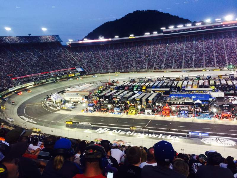 Seating view for Bristol Motor Speedway Section Yarborough Terr. Sec B Row 25 Seat 11