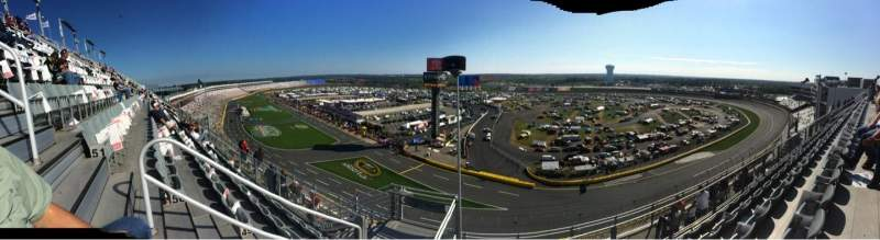 Seating view for Charlotte Motor Speedway Section UpperFord B Row 51 Seat 36