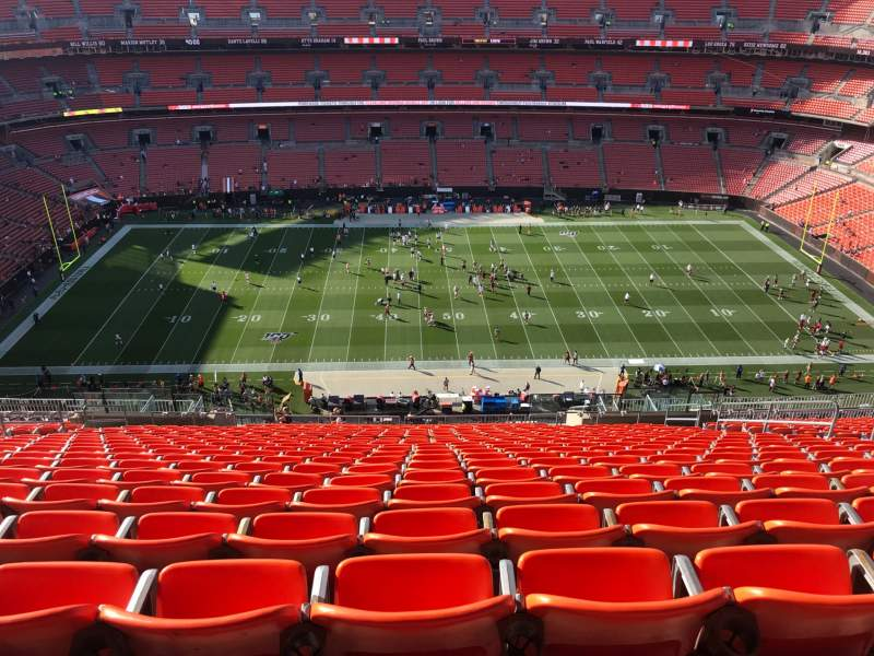 Seating view for FirstEnergy Stadium Section 508 Row 27 Seat 15