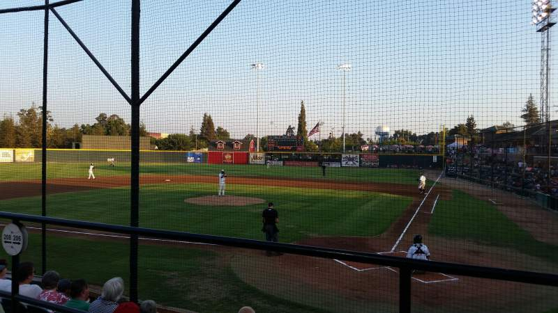 Seating view for Rawhide Ballpark Section 206 Row E Seat 3