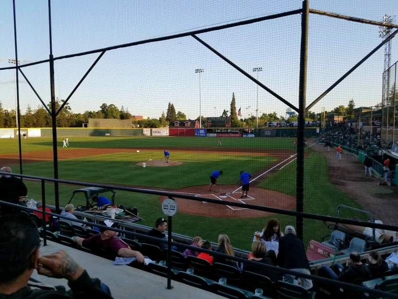Seating view for Rawhide Ballpark Section 204 Row F Seat 2