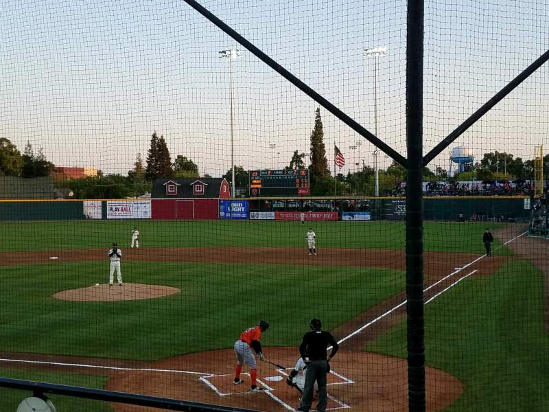 Seating view for Rawhide Ballpark Section 204 Row F Seat 1
