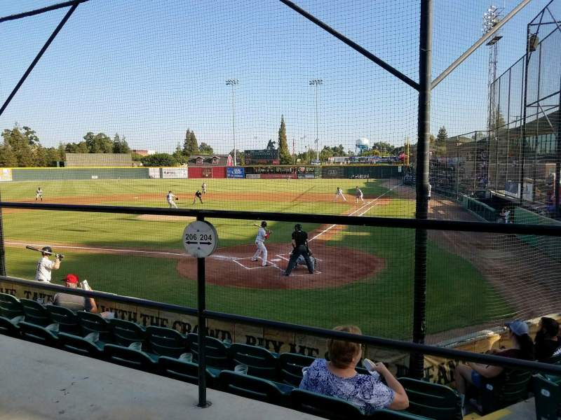 Seating view for Rawhide Ballpark Section 204 Row E Seat 3