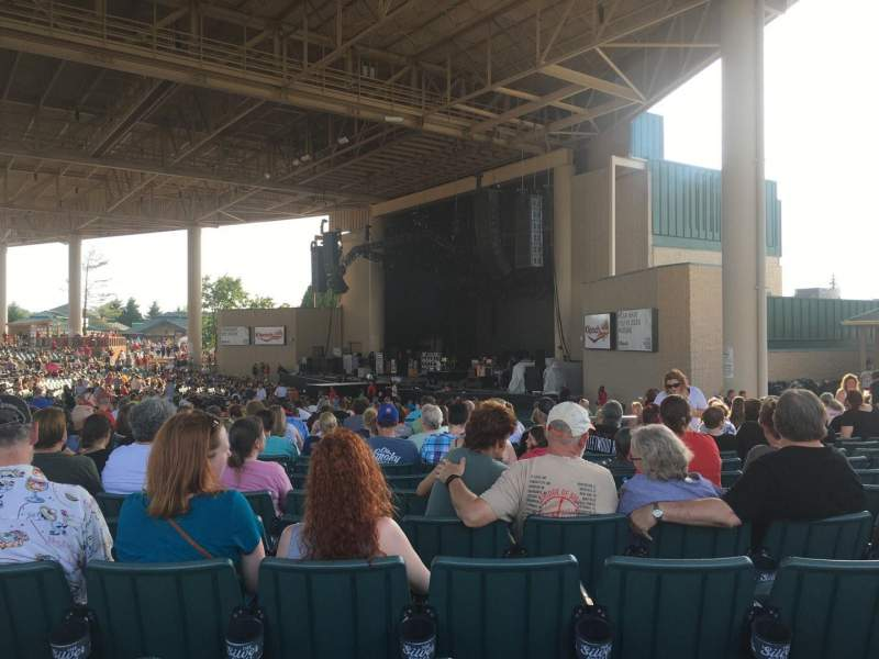 Seating view for Klipsch Music Center Section H Row R Seat 33
