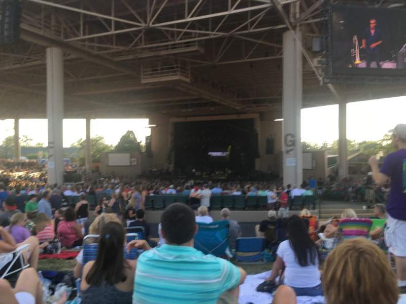 Seating view for Klipsch Music Center Section Lawn Row 5
