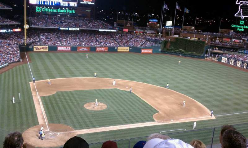 Seating view for Citizens Bank Park Section 317 Row 4 Seat 21