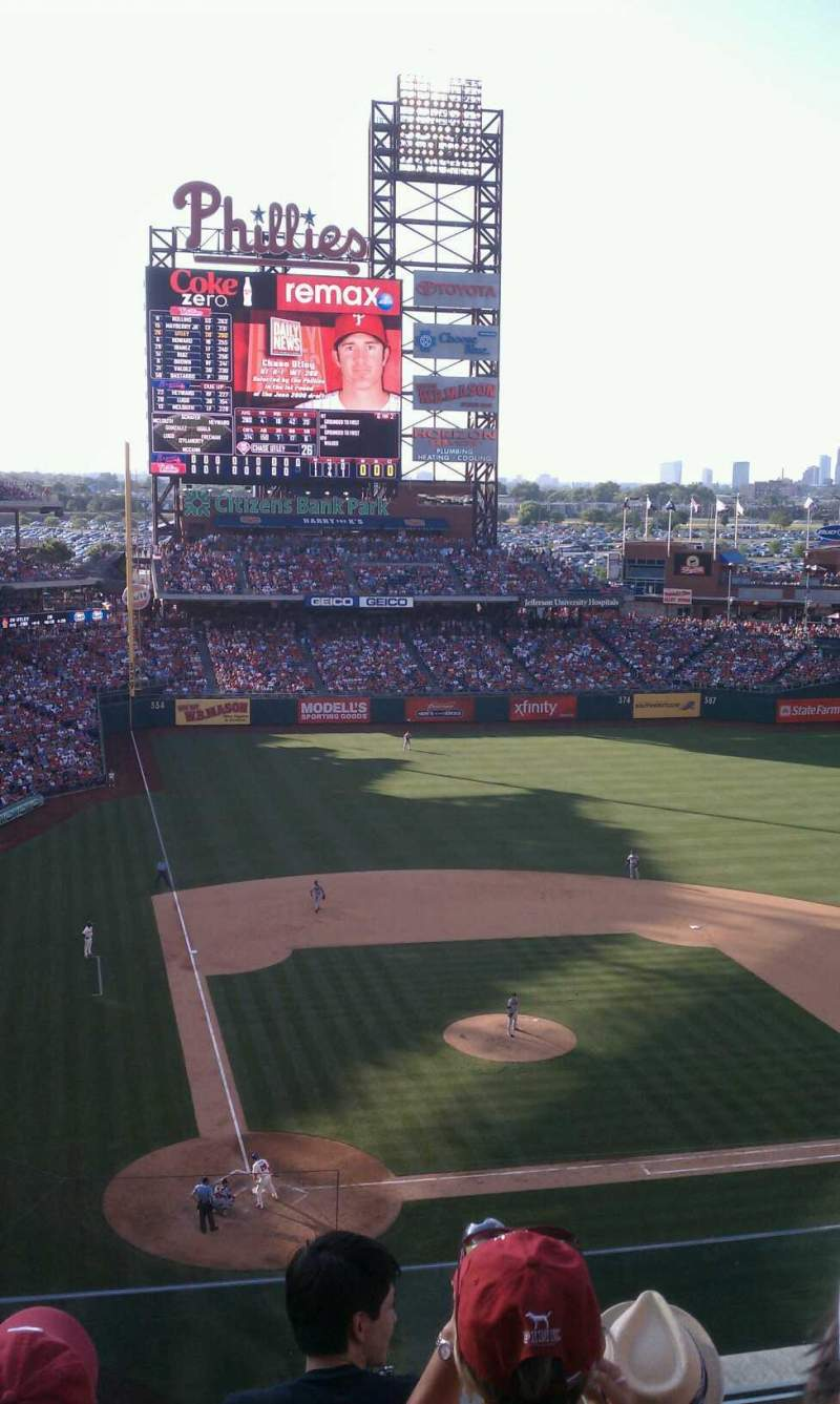Seating view for Citizens Bank Park Section 317 Row 4 Seat 20