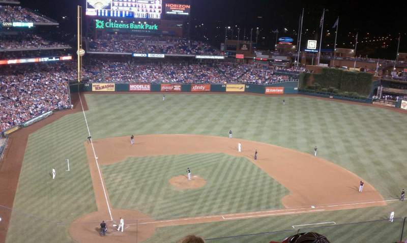 Seating view for Citizens Bank Park Section 317 Row 5 Seat 20