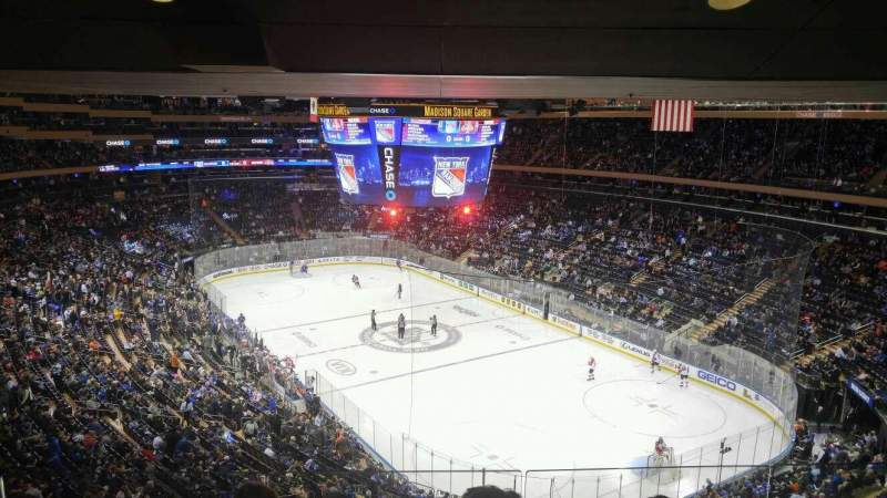 Seating view for Madison Square Garden Section 414 Row 4 Seat 8